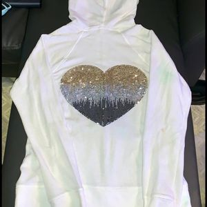 Victoria's Secret pink bling hoodie size medium